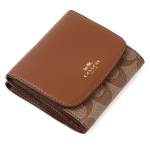 コーチ COACH 二つ折り財布 アウトレット シグネチャー メンズ 二つ折財布 53837 サドル|worlddrive