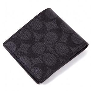 コーチ COACH 二つ折り財布 アウトレット シグネチャー メンズ 二つ折財布 ギフトBOX付 worlddrive
