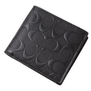 コーチ COACH 二つ折り財布 アウトレット シグネチャー メンズ 二つ折財布 75363 ギフトボックス付き|worlddrive