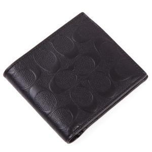 コーチ COACH 二つ折り財布 アウトレット シグネチャー メンズ 二つ折財布 worlddrive