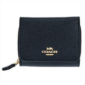 COACH コーチ 三つ折り財布 レディース レザー ブラック f37968 新品 ギフトボックス付き|worlddrive