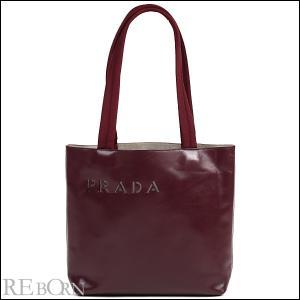 プラダ PRADA バッグ パンチング ロゴ レザー トート バッグ レッド|worlddrive