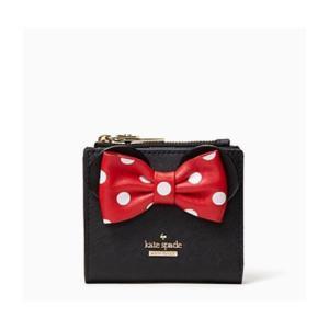 ケイトスペード kate spade 二つ折り財布 WLRU6026-001 ディズニー コラボ Disney ミニーマウス アウトレット レディース|worlddrive