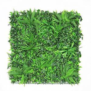 ULAND ウォールグリーン 壁面緑化 フェイクグリーン 人工 観葉 植物 マット 壁掛け 造花 ミックス リーフ|worldfigure