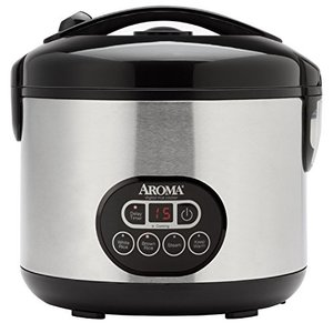 Aroma Professional 12-Cup (Cooked) Digital Rice Cooker and Food Steamer, Stainless Steel|worldfigure