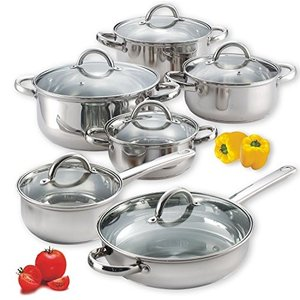 Cook N Home 12-Piece Stainless Steel Set|worldfigure
