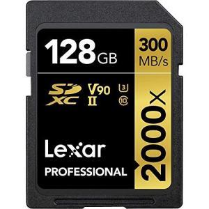Lexar Professional 2000x 128GB SDXC UHS-II/U3 (Up to 300MB/s Read) w/USB 3.0 Reader - LSD128CRBNA2|worldfigure