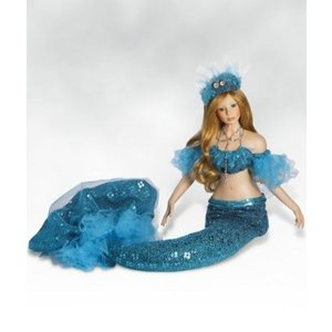 One of Finest Collectible Dolls, Mystical Mermaid Doll, Naida, 34-inch Porcelain ドール 人形 フィ