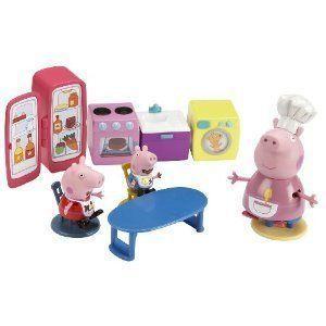 Peppa Pig Kitchen プレイセット Toy フィギュア おもちゃ 人形