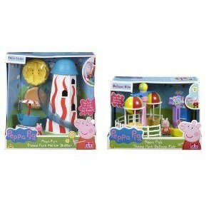 Peppa Pig's Theme Park BUNDLE - Helter Skelter & B...