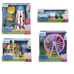 Peppa Pig's Theme Park BUNDLE - Helter Skelter & Ferris Wheel & Balloon Ride & Train Ride 4 Items worldfigure 02