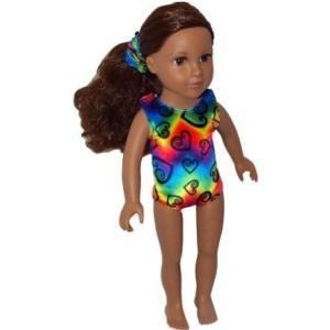 Rainbow Love Gymnastics Doll Leotard and Scrunchie...