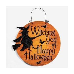 ハロウィン 魔女の幸せな 看板 サイン プレート ウィッチ ...