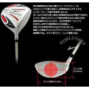 激安 ワールドイーグル WORLDEAGLE 5Z ゴルフ ドライバー メンズ ルール適合モデル evdrvr 右用|worldgolf|05