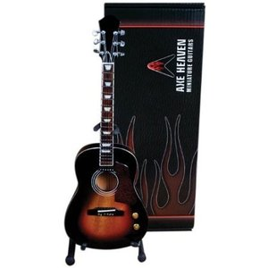 Axe Heaven AC-002 Acoustic Vintage Sunburst Finish Miniature Guitar Replica|worldmusic