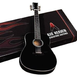 Axe Heaven AC-003 Acoustic Classic Black Finish Miniature Guitar Replica|worldmusic