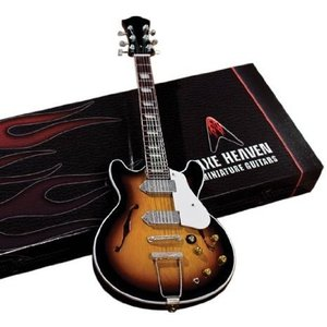 Axe Heaven JL-017 Electric Sunburst Hollow Body Miniature Guitar Replica|worldmusic