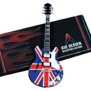 Axe Heaven NG-311 Electric Union Jack Model Miniature Guitar Replica|worldmusic