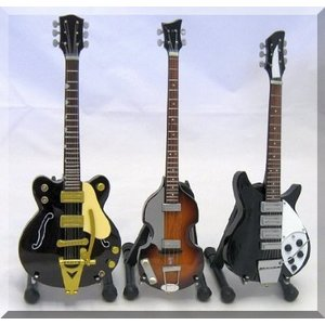 BEATLES Miniature Guitar JOHN, GEORGE, PAUL エレキギター エレクトリックギター ギター|worldmusic