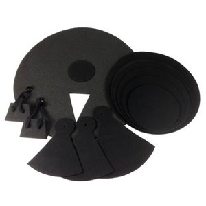 12 Piece DRUM PRACTICE PADS - Silent Black Foam Quiet 12-pcs Covers NEW SET|worldmusic