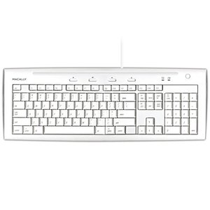 Macally iKeyslim Hi-Speed USB 2.0 Slim Keyboard with Two USB Ports|worldmusic