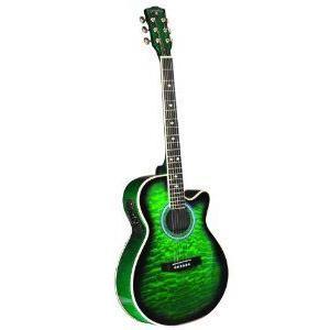 INDIANA Madison MAD-QTGR エレアコ - Green Sunburst アコースティックギター アコギ ギター|worldmusic