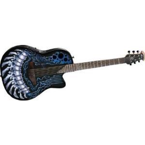 Ovation (オベーション) Dj Ashba Demented Series DJA34-CHB Acoustic-electric Guitar, Chrome Bone|worldmusic