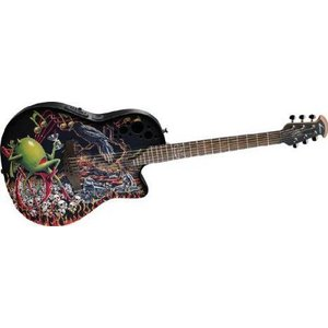 Ovation (オベーション) Dj Ashba Demented DJA34-BY Acoustic-electric Guitar, Bone Yard アコーステ|worldmusic