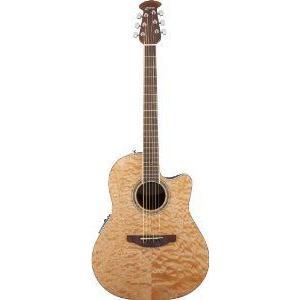 Ovation (オベーション) CS24P-4Q エレアコ, Natural Quilt Maple アコースティックギター アコギ ギタ|worldmusic