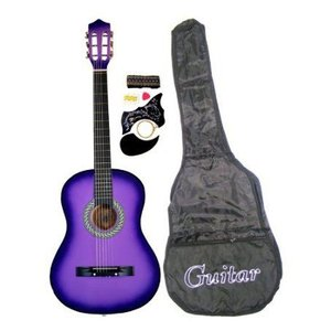 Purple Acoustic Toy Guitar for Kids with Carrying Bag and Accessories & DirectlyCheap(TM) Transluc worldmusic