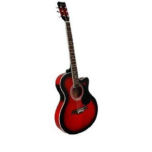 "Beginner's 41"" Red Cutaway エレアコ with Gig Bag and Accessories エレクトリックアコースティックギ