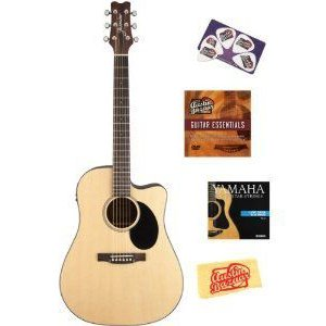 Jasmine JD36CE Dreadnought エレアコ Bundle with Instructional DVD, Strings, Pick Card, and Poli|worldmusic|01