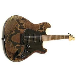 Strat Style Electric Guitar - Snake Skin エレキトリックギター エレキギター|worldmusic
