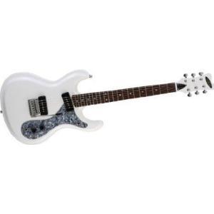 Aria (アリア) DM-380 Diamond エレキギター White w/ Black Pickguard エレキギター エレクトリックギタ|worldmusic