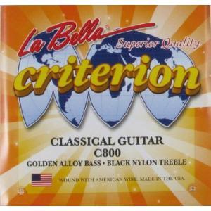 La Bella クラシックギター Black Nylon/Golden Alloy, C800 クラシックギター ギター|worldmusic