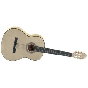 New Maxam 40 インチ Classic Six String Guitar High-Gloss Natural Colored Wood Tone Finish クラシッ|worldmusic