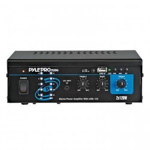 Pyle ミニ2x120W ステレオ パワーアンプ w/ USB & CD インプット worldmusic