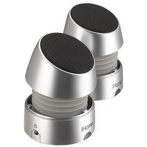 iHome, Recharge Mini Speaker スピーカー Silver (Catalog Category: Speaker スピーカー / 2-Piece Sy|worldmusic