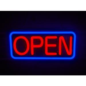 ネオン管風 LED看板 四角 OPEN オープン ネオンサイン パターン点灯 リモコン付 インテリア...