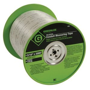 Greenleeグリーンリー 435 Polyester Conduit Measuring Tape, 3/16-Inch By 3000-Feet|worldselect