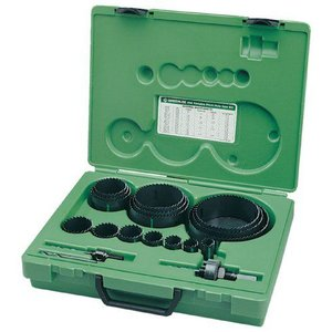 "Greenleeグリーンリー 890 Industrial Maintenance Bi-Metal Hole Saw Kit For 3/4"" Through 4-3/4"" Conduit Size"