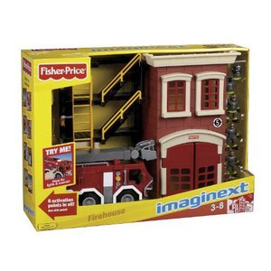 Fisher-Price(フィッシャープライス) Imaginext ファイヤー トラック プレイセット