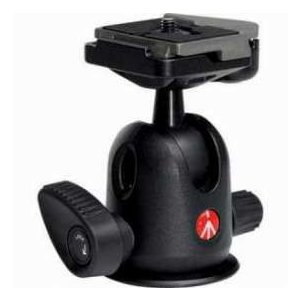 Manfrotto 496RC2 Compact Ball Head 496 with RC2 Rapid Connect Plate, Maximum Load: 13.2 lbs/ 6 kg|worldselect
