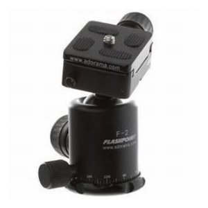Flashpoint F-2 Magnesium Alloy Tripod Ball Head with Quick Release Plate, Supports 11 lbs.|worldselect