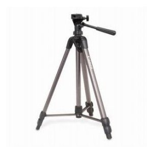 Canon Deluxe Tripod 300 with 3-Way Pan Head, Quick Release, Built-in Bubble Level(Extends to 62