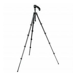 Manfrotto MKC3-H01 Compact 5 Section Photo/Video Tripod Kit with Quick Release - Black worldselect