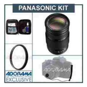 Panasonic Lumix G Vario 100-300mm f/4.0-5.6 MEGA O.I.S. Zoom Lens with Accessories