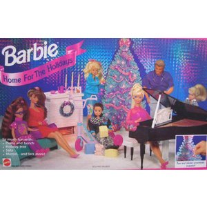 Barbie(バービー) Home For The ホリデーs Playset / Tree & Sticker Ornaments (1994 Arcotoys, Mattel|worldselect