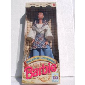 Philippine Centennial Barbie(バービー) (1898 - 1998) - Blue Dress / Blue/Turquoise/Pink エプロン|worldselect