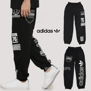 ユニセックス アディダス スウェット パンツ Logo Crew Sweatshirt ブラック【海外限定・正規品】...